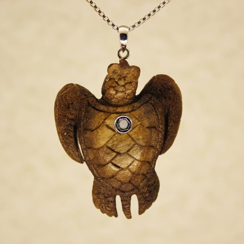 Carved Turtle Pendant with PenPeep Stanhope
